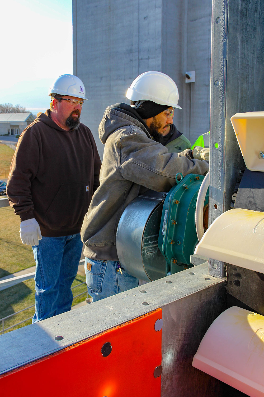 Grain elevator material handling